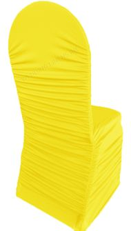 Rouge Spandex Banquet Chair Covers - Canary Yellow 62516(1pc/pk)