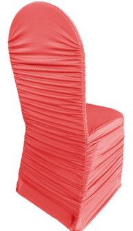 Rouge Spandex Banquet Chair Covers - Coral 62506(1pc/pk)