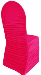 Rouge Spandex Banquet Chair Covers - Fuchsia 62509(1pc/pk)