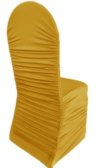 Rouge Spandex Banquet Chair Covers - Gold 62527(1pc/pk)