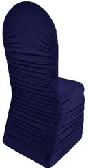 Rouge Spandex Banquet Chair Covers - Navy Blue 62523(1pc/pk)