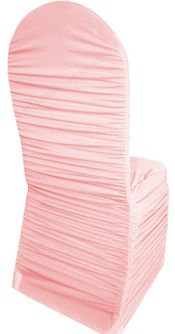 Rouge Spandex Banquet Chair Covers - Pink 62505 (1pc/pk)