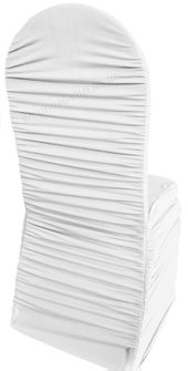 Rouge Spandex Banquet Chair Covers - Platinum 62550 (1pc/pk)