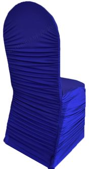 Rouge Spandex Banquet Chair Covers - Royal Blue 62522(1pc/pk)