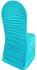 Rouge Spandex Banquet Chair Covers - Turquoise 62585(1pc/pk)