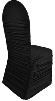 Rouge Spandex Chair Covers - Black 62539(1pc/pk)