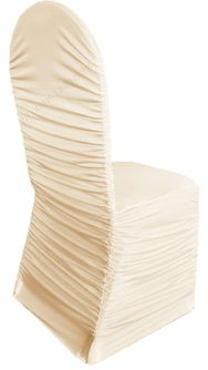 Rouge Spandex Chair Covers - Champagne 62528(1pc/pk)