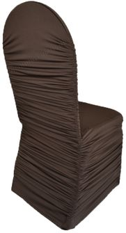 Rouge Spandex Chair Covers - Chocolate 62591(1pc/pk)