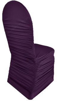 Rouge Spandex Chair Covers - Eggplant 62545(1pc/pk)