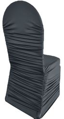 Rouge Spandex Chair Covers - Pewter 62560 (1pc/pk)