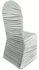 Rouge Spandex Chair Covers - Silver 62540(1pc/pk)