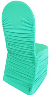 Rouge Spandex Chair Covers - Tiff Blue / Aqua Blue 62518 (1pc/pk)
