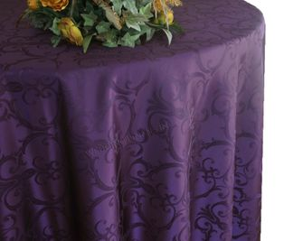 Round Versailles Chopin Damask Jacquard Polyester Tablecloths (4 sizes)