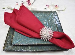 "Sample 20"" x 20"" Polyester Napkins - Apple Red 51308 (1pc)"