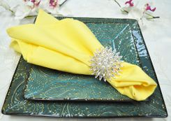 "Sample 20"" x 20"" Polyester Napkins - Canary Yellow 51316 (1pc)"