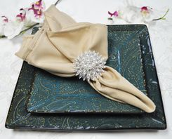 "Sample 20"" x 20"" Polyester Napkins - Champagne 51328 (1pc)"