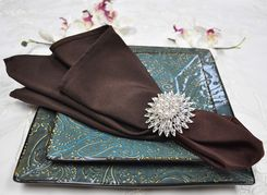 "Sample 20"" x 20"" Polyester Napkins - Chocolate 51391 (1pc)"