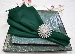 "Sample 20"" x 20"" Polyester Napkins - Hunter Green / Holly Green 51319 (1pc)"