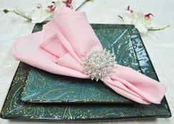 "Sample 20"" x 20"" Polyester Napkins - Pink 51305 (1pc)"