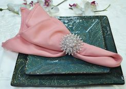 "Sample 20"" x 20"" Polyester Napkins - Rose 51307 (1pc)"