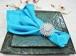 "Sample 20"" x 20"" Polyester Napkins - Turquoise 51385 (1pc)"