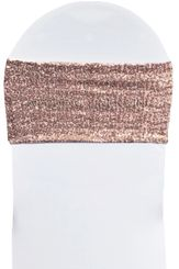 """Sample 7""""x 13"""" Sequin Spandex Chair Bands -  Blush Pink 00115 (1pc)"""