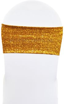 """Sample 7""""x13"""" Sequin Spandex Chair Bands (17 Colors)"""