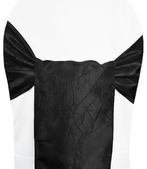 Sample Crushed Taffeta Sash - Black 61139(1pc)