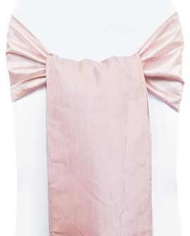 Sample Crushed Taffeta Sash - Blush Pink 61115(1pc)