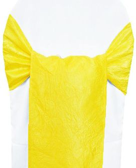 Sample Crushed Taffeta Chair Sash - Canary Yellow 61116(1pc)