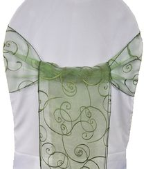 Sample Embroidered Organza Sash - Clover(1pc)
