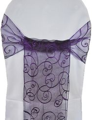 Sample Embroidered Organza Sash - Regency(1pc)