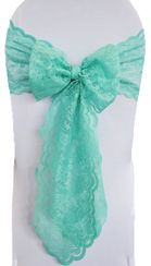 Sample Lace Chair Sash - Tiff Blue / Aqua Blue 90118 (1pc)