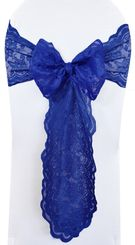 Sample Lace Chair Sash - Navy Blue 90123 (1pc)