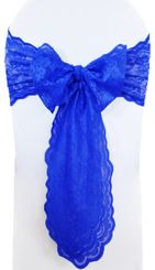 Sample Lace Chair Sashes - Royal Blue 90122 (1pc)