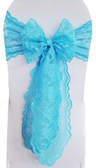 Sample Lace Chair Sash - Turquoise 90185 (1pc)