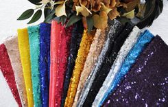 "Sample Lot 7""x13"" Sequin Spandex Chair Bands (19pcs/pk)"