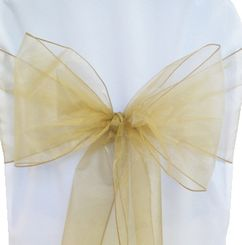 Sample Organza Sash - Antique Gold(1pc)