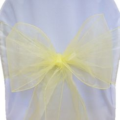 Sample Organza Sash - Baby Maize(1pc)