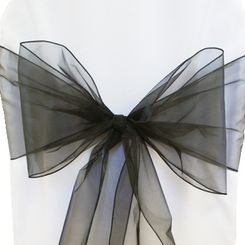 Sample Organza Sash - Black(1pc)