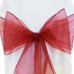 Sample Organza Sash - Burgundy(1pc)
