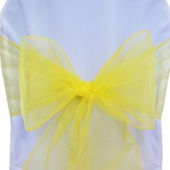 Sample Organza Sash - Canary Yellow(1pc)