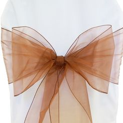Sample Organza Sash - Copper (1pc)