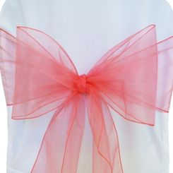 Sample Organza Sash - Coral(1pc)