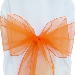Sample Organza Sash - Orange(1pc)