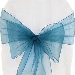 Sample Organza Sash - Peacock(1pc)