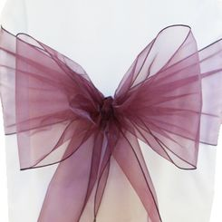 Sample Organza Sash - Plum(1pc)