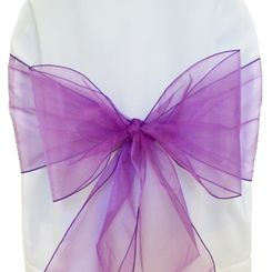 Sample Organza Sash - Purple(1pc)