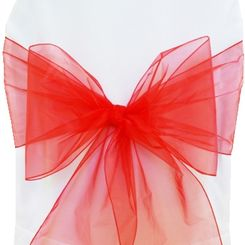 Sample Organza Sash - Red(1pc)