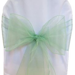 Sample Organza Sash - Sage Green(1pc)